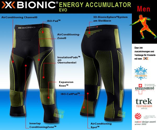 X-Bionic EAcc. EVO Funktionswäsche Fitness Sport Hose medium