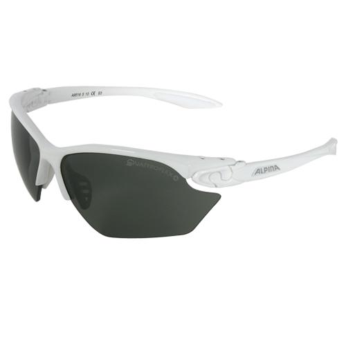 Alpina Unisex Sportbrille Radbrille Twist Four S weiß QL+ Quattroflex Gläser S3