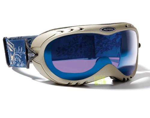 ALPINA Skibrille Schneebrille IMPERIOR HM champagner blau