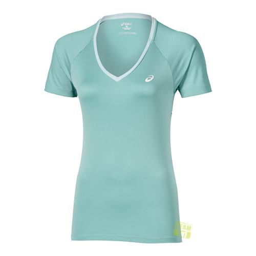 Asics Damen Tennis Top Club V-Neck Top türkis