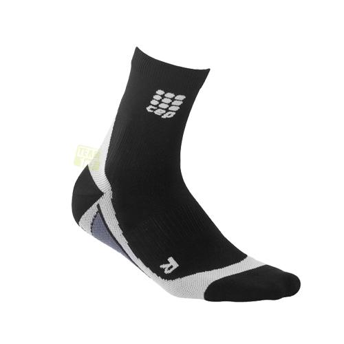 CEP Herren Kompressionssocken Laufsocken dynamic + short socks schwarz/grau