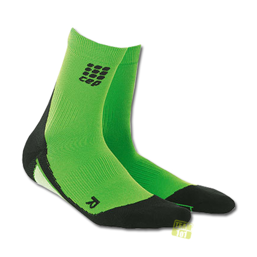 CEP Damen Kompressionssocken Laufsocken dynamic+ short socks grün/schwarz