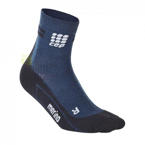 CEP Damen Laufsocken dynamic+ run merino short socks blau/schwarz