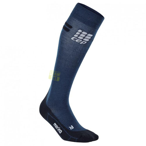 CEP Herren Laufsocken pro+ run merino socks blau/schwarz