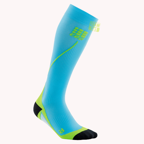 CEP Herren Kompressionssocken Pro+ Run Socks 2.0 hawaii-blau/grün