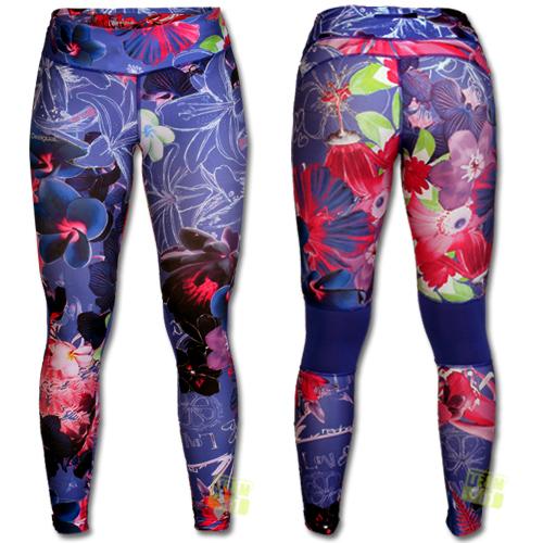 desigual damen leggings sporthose esther blau ebay. Black Bedroom Furniture Sets. Home Design Ideas