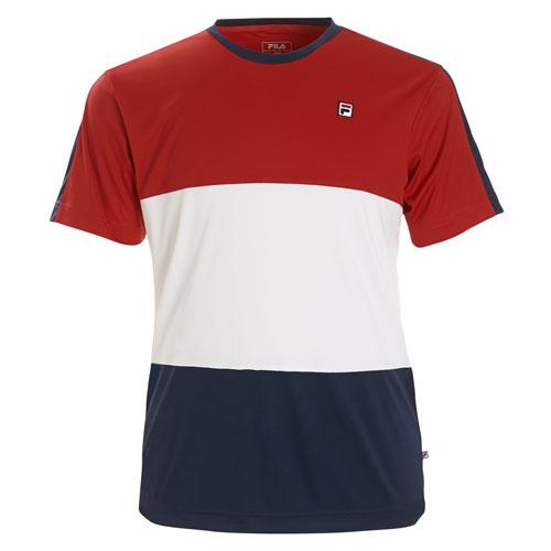 new concept bfad4 b64a0 Fila Kinder Jungen Tennis Shirt Sebastien rot/dunkelblau/weiß