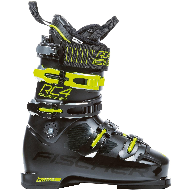 Fischer Herren Skischuhe Skistiefel RC4 CURV 120 VACUUM Full Fit schwarz gelb