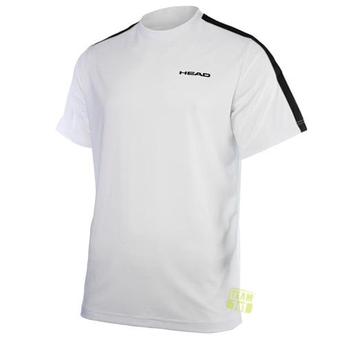 Head Herren Tennisshirt Sportshirt Doherty T-Shirt Funktionsfaser weiß