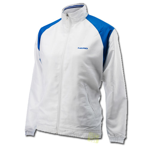 Head Mädchen Tennisjacke Cooper JR All Season Jacket weiß / blau