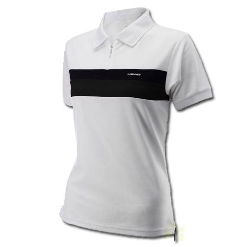 Head Damen Tennishemd Sterry Poloshirt Zip weiß / schwarz