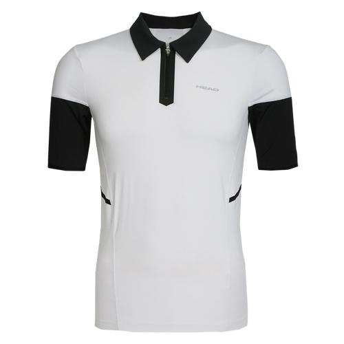 Head Herren Tennishemd Sportshirt Polohemd kurzarm Performance 811026 weiss