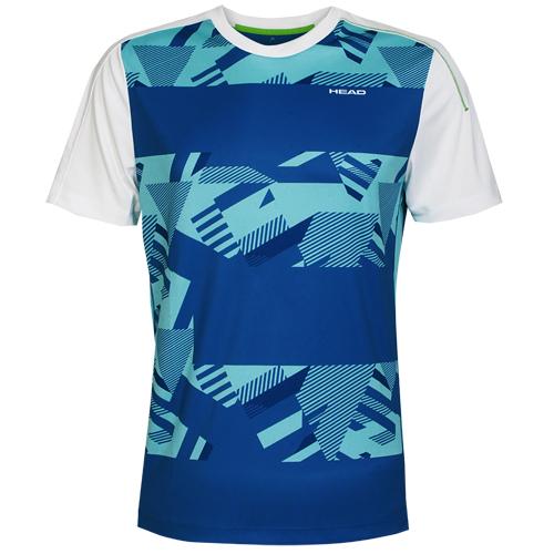 Head Herren T-Shirt Sportshirt Laufshirt Tennisshirt kurzarm Vision Cypher Blau