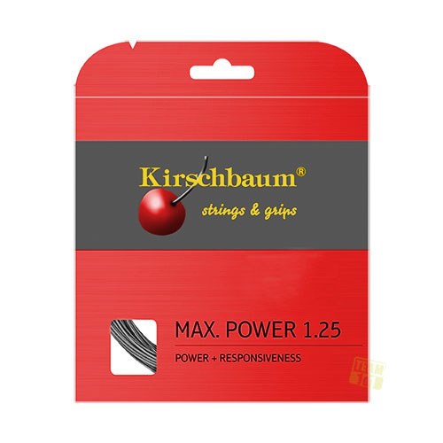 Kirschbaum Tennissaite MAX POWER anthrazit 12m
