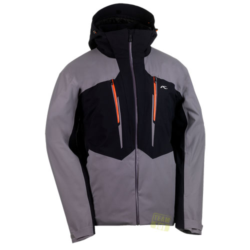 kjus herren skijacke slant jacket grau schwarz ebay. Black Bedroom Furniture Sets. Home Design Ideas