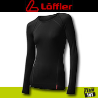 Löffler Damen  Funktionsunterhemd Undershirt langarm schwarz