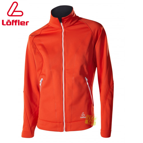 Löffler Damen Outdoorjacke Wanderjacke Softshell Jacke orange