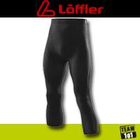 Löffler Herren Funktionsunterhose Underpant 3/4 lang schwarz