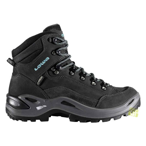 lowa damen wanderschuhe renegade gtx mid grau blau ebay. Black Bedroom Furniture Sets. Home Design Ideas