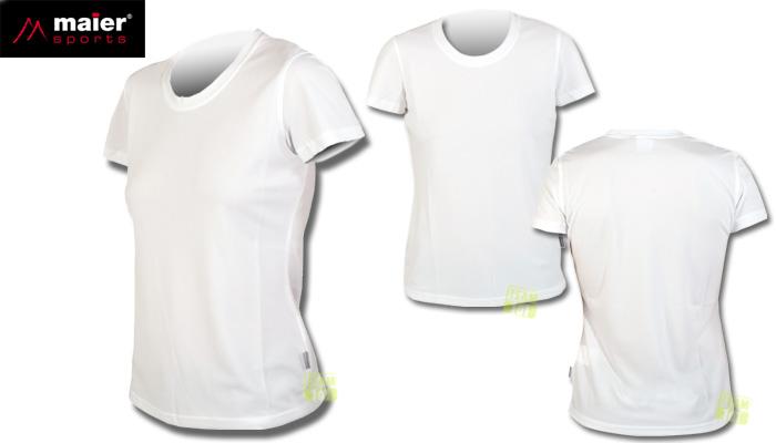 Maier Sports Damen Shirt T-Shirt Sportshirt Outdoorshirt SARAH weiß