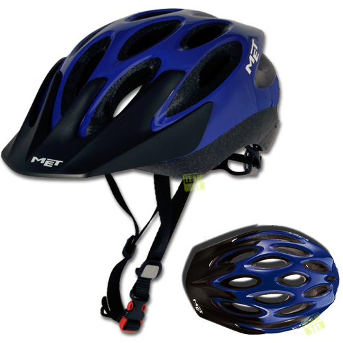 Fenster Helm Bad König : Details zu MET Fahrradhelm Radhelm MTB Helm BAD BOY Blau GrM (5257)