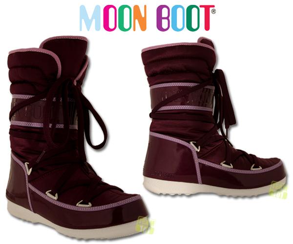 Tecnica Moon Boot Damen Softboots Winterschuhe W.E. Shorty purpur