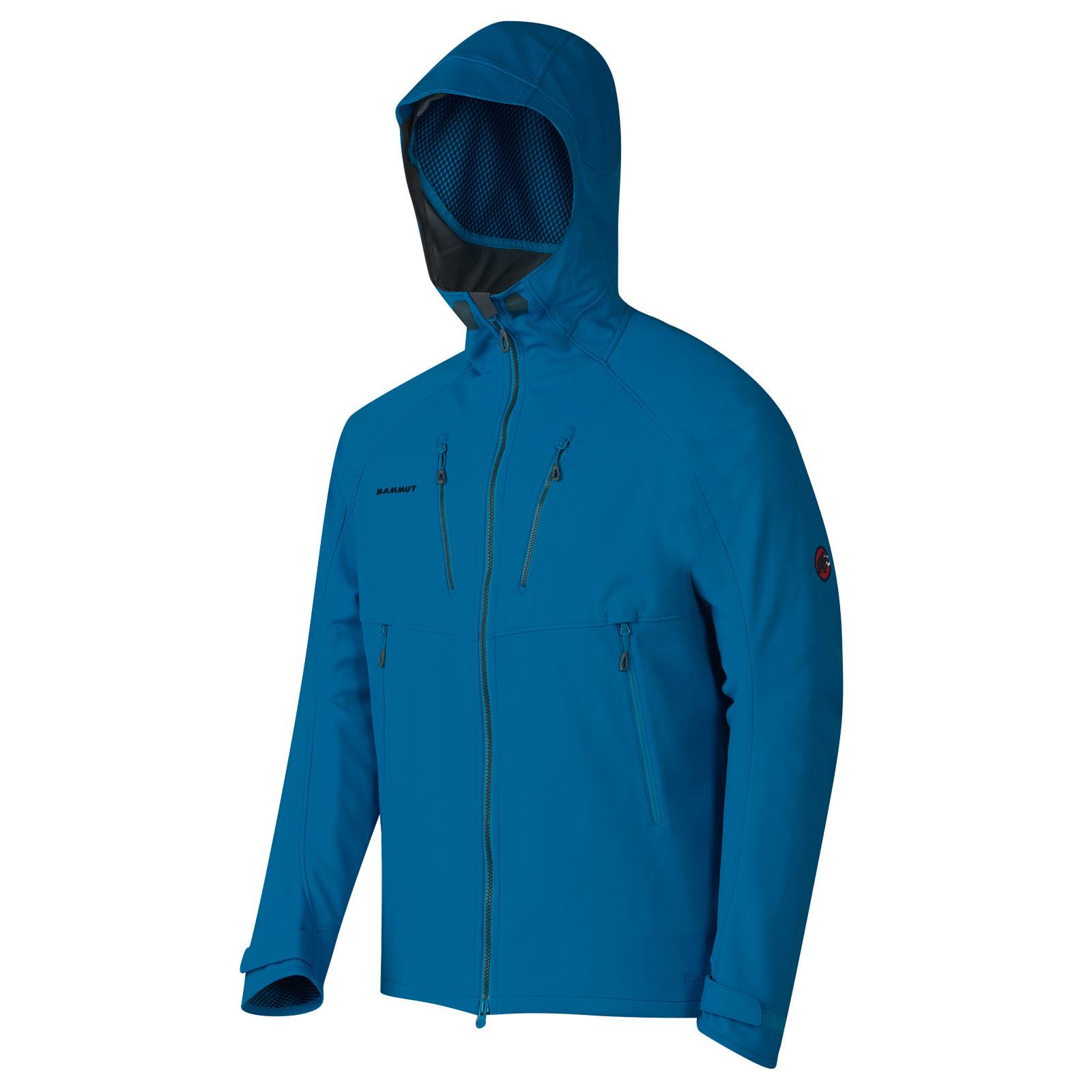 new style 3876e b3d92 Mammut Herren Skitourenjacke Ultimate Alpine Hoody hellblau