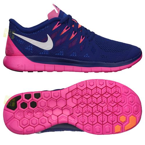 Nike Free 5.0 Damen Blau Pink