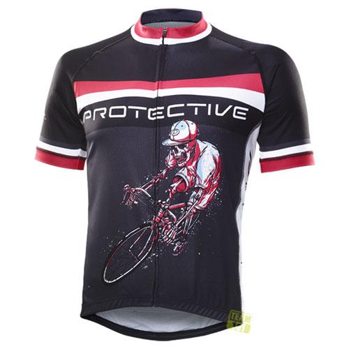 Protective Herren Radtrikot Hell Rider schwarz/rot/weiß