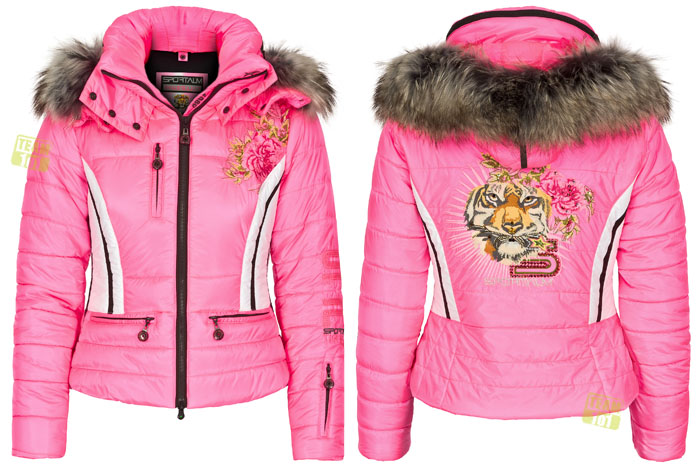 sportalm damen skijacke winterjacke grace darling mit pelz pink ebay. Black Bedroom Furniture Sets. Home Design Ideas