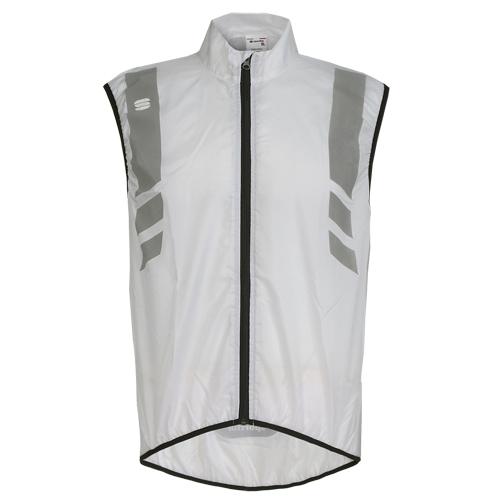 Sportful Herren Fahrradweste Regenweste mit Reflektstreifen REFLEX 2 VEST weiß
