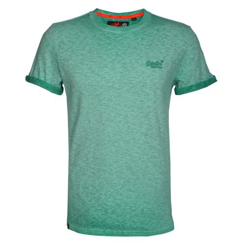 Superdry Herren T-Shirt ORANGE LABEL LOW ROLLER grün