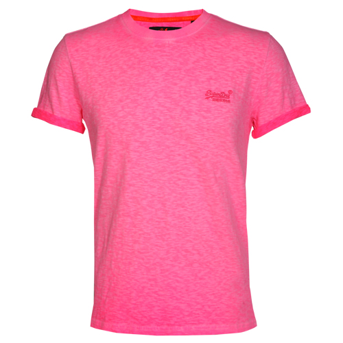 Superdry Herren T-Shirt ORANGE LABEL LOW ROLLER pink