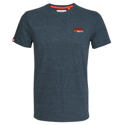 Superdry Herren T-Shirt ORANGE LABEL VINTAGE blau