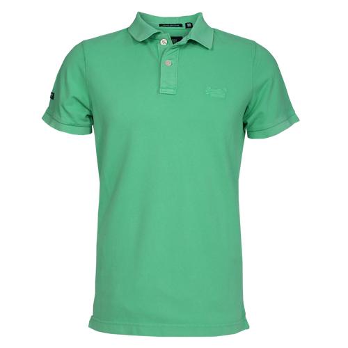 Superdry Herren Poloshirt VINTAGE DESTROY PIQUE grün