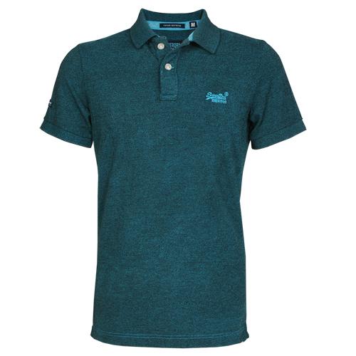 Superdry Herren Poloshirt VINTAGE DESTROY PIQUE blau