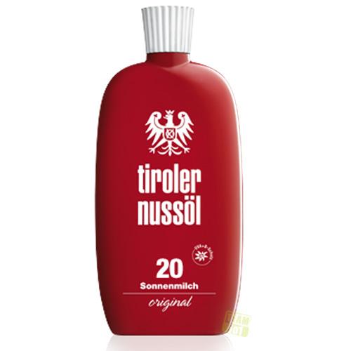 Tiroler Nussöl Sonnenmilch original Lichtschutzfaktor 20 150 ml