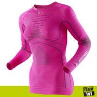 X-Bionic Damen Skiunterwäsche Funktionsshirt Thermo Energy Accumulator Evo pink