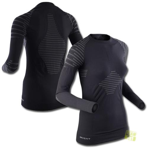 X-Bionic Damen Skiunterhemd langarm Funktionsunterwäsche I020272 INVENT schwarz