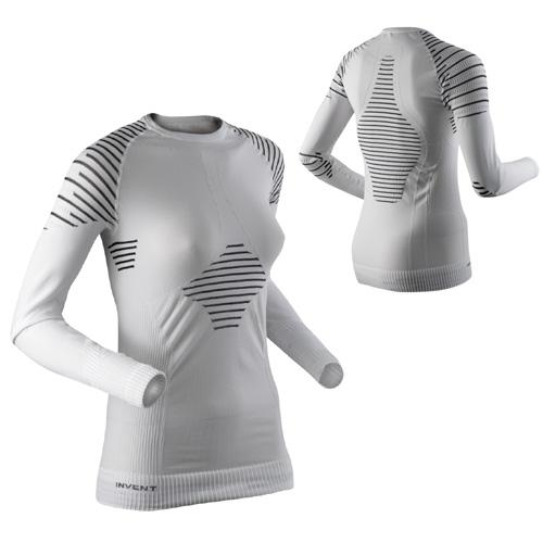 X-BIONIC Damen Skiunterhemd Funktionsunterwäsche Skiunterwäsche INVENT weiß