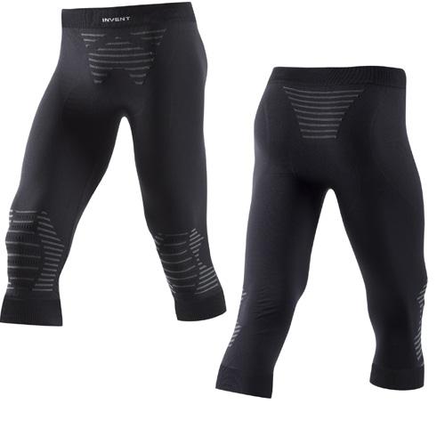 X-Bionic Herren 3/4 lange Funktionsunterhose Skiunterhose INVENT medium schwarz