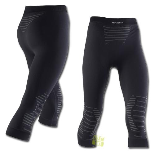 X-Bionic Damen 3/4 lange Funktionsunterhose Skiunterhose INVENT schwarz