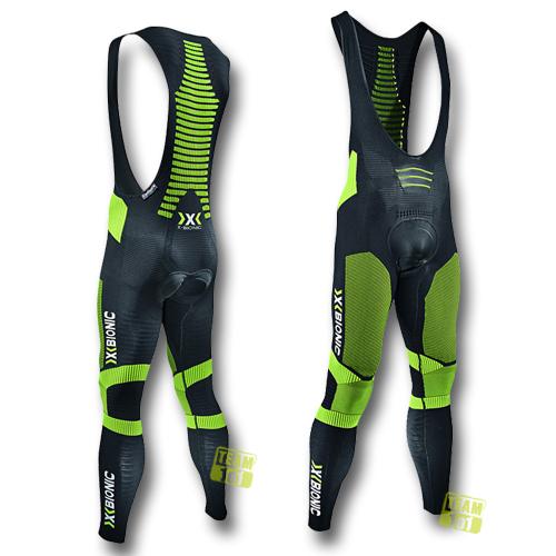 X-Bionic Herren Radhose lang Effektor Power OW Bib Tight biking schwarz/gelb
