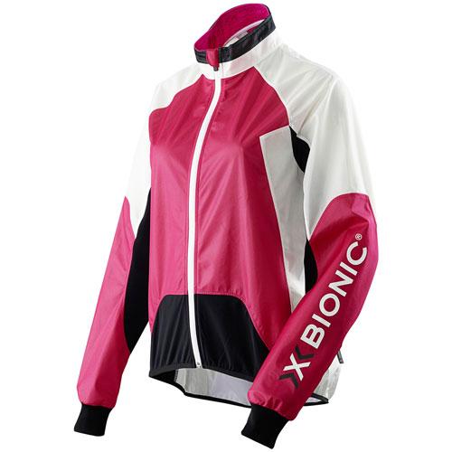 X-Bionic Damen Fahrradjacke Windjacke Funktionsjacke Spherewind pink/weiss