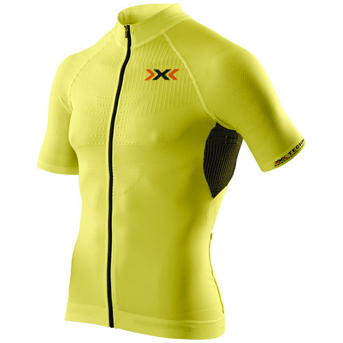 X-Bionic Herren Fahrradtrikot bikeshirt jersey Ful Zip THE TRICK gelb/schwarz