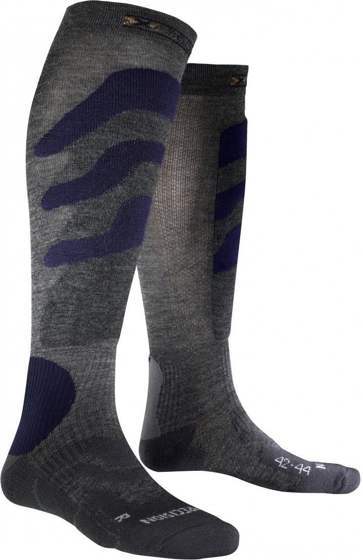 X-Socks Skisocken Wintersocken Strümpfe Ski Precision dunkelblau grau