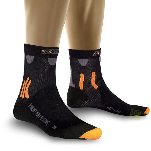 X-Socks Radsocken MOUNTAIN BIKING schwarz