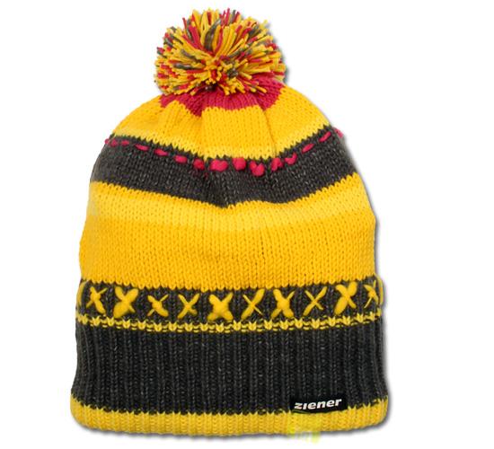 Ziener Wintermütze Skimütze IMUR grau/gelb