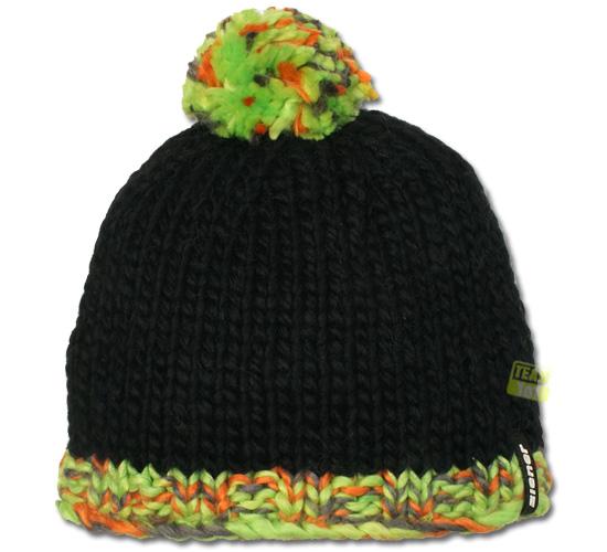 Ziener Wintermütze Skimütze IRMEL schwarz multicolor mit Bommel